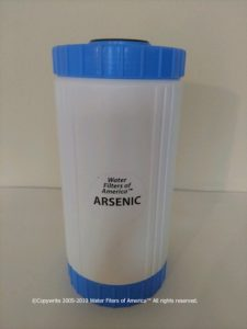 Arsenic water filter cartridge removes arsenic from drinking water