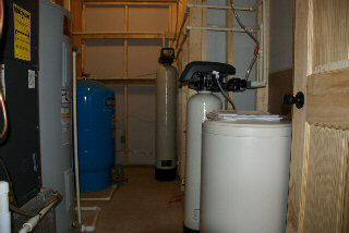 Water Softener and Iron Filter, picture sent in by customer.